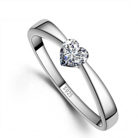 Zilveren Ring - Ring Hart - Hartenring