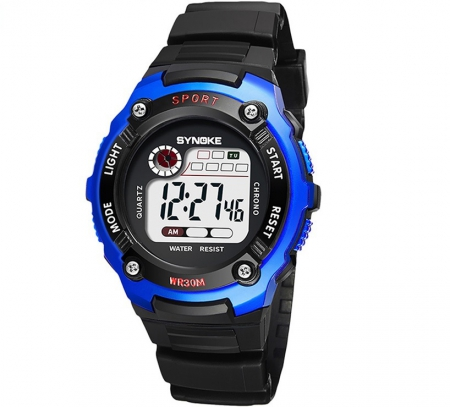 Sportief Kinderhorloge - Digital Kids Watch - Blauw