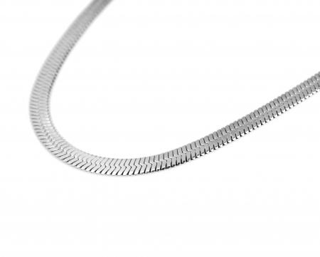 Platte Slangenketting - Roestvrij Staal - 6mm