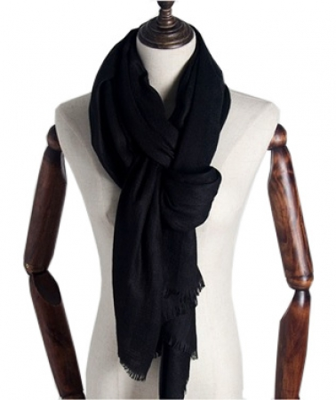 Extra Lange Sjaal - Black - Omslagdoek