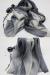 Zijde Blend Sjaal - Lange Dames Sjaal - Purple Grey