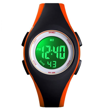 Kinderhorloge - Stopwatch - Waterdicht - Digital Watch - Oranje Zwart
