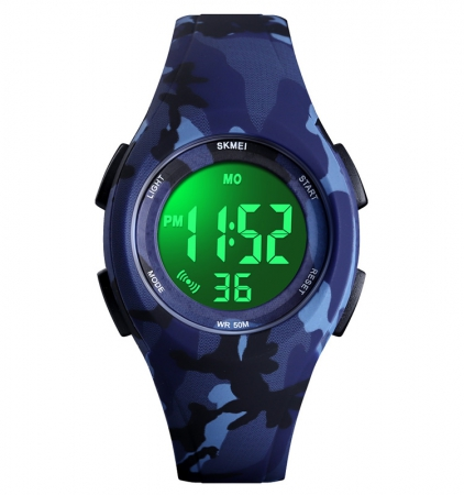 Kinderhorloge - Stopwatch - Waterdicht - Digital Watch - Camouflage Blauw