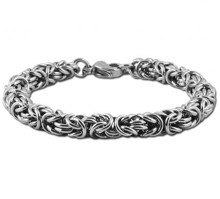 Heren konings armband edelstaal